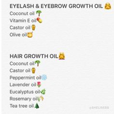 DIY growth oil for hair, eyebrows, eyelashes @SHELISEBB