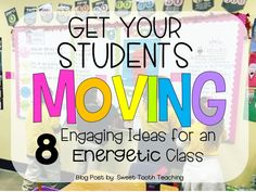 8 Engaging Ideas to help our students get up & active! 3rd Grade Classroom, School Classroom, Classroom Activities, Classroom Organization, Learning Activities, Classroom Management, Classroom Ideas, Future Classroom, Classroom Routines