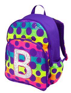 3eff2e76af Rainbow Dot Initial Backpack. Justice BackpacksGirl BackpacksSchool  BackpacksShop ...