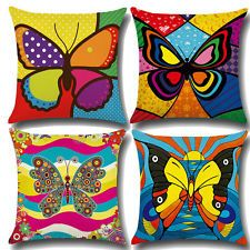 Pillow Cover Home Decor Pillowcase Sofa Modern Art Butterfly pattern Cotton  sc 1 st  Pinterest : bazoongi treehouse trampoline tent - memphite.com