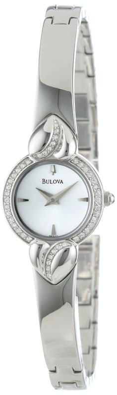 90dc42bab90 Bulova Women s Crystal Pendant and Bangle Set White Dial Watch