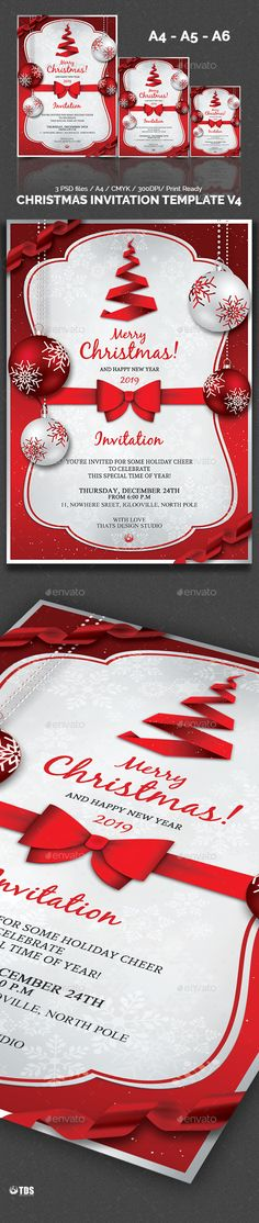 Christmas Invitation Template V3 - christmas invitation template