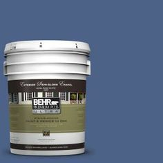 BEHR Premium Plus Ultra 5-gal. #PPU15-4 Mosaic Blue Semi-Gloss Enamel Exterior Paint-585305 at The Home Depot