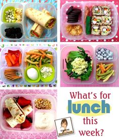A week worth of healthy lunch ideas packed in @EasyLunchboxes