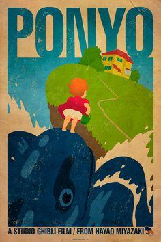 Hayao Miyazaki Vintage Design Posters