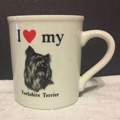 I Love My Yorkshire Terrier Coffee Mug Cup Strand Papel Dog Lovers Yorkies Yorky #PapelInc