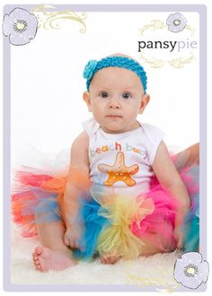 Kaits and Mom--what do you think of this? :)    Summer Tutu Baby Tutu Outfit Toddler Skirt 9 by PansyPieBoutique, $32.99