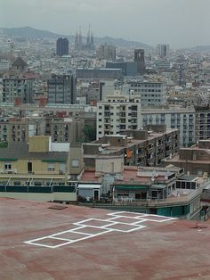 """Seriously black comedy: This is called """"Hopscotch to Oblivion"""" and it is a very real thing in Barcelona Spain."""