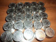 Pachislo Tokens - 250 MATCHING SILVER SUNRISE .984 NONMAGNETIC Slots, Arcade