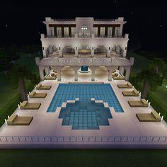Villa Minecraft, Modern Minecraft Houses, Minecraft Building Guide, Minecraft House Plans, Minecraft House Tutorials, Minecraft Mansion, Minecraft Cottage, Minecraft Room, Minecraft House Designs