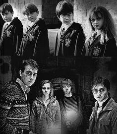 Harry Potter.  Hermione Granger. Ron Weasley, Neville Longbottom.