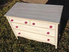 "Vintage ""American Girl"" dresser - custom refinish for a client"