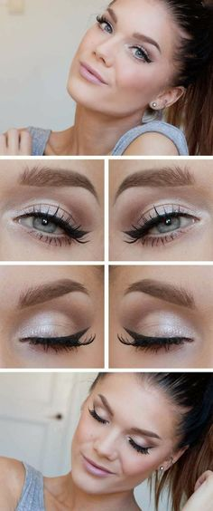 The light make look will give you a more nature look and endow you with a face that appears to be born with. It is more suitable for our every day life. Related PostsFace, Eye & Lip Makeup Tips Every WomanPolished look for Office Makeup TutorialStunning Makeup Tutorials For Blue EyesMAKEUP TRENDS: TURQUOISE EYELINERS AND …