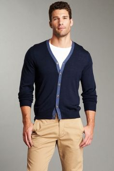 Close Knit Contrast Trim Cardigan
