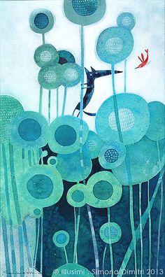 climbing up the stems, till the sky by Simona Dimitri