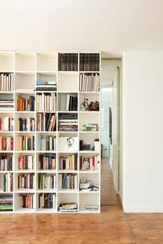 Sliding Secret Door Bookcase--nice to cordon off areas in an open space