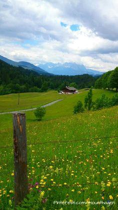 #Fieberbrunn in Tirol/Austria with an amazing view of the Wilder Kaiser mountain range