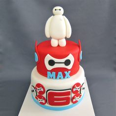 Big Hero 6 inspired cake - For all your cake decorating supplies, please visit craftcompany.co.uk