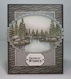 created by Lynda at Stamp Act  Beautiful peaceful card. Love the colors