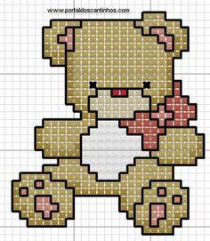Schema punto croce Piccolo orso
