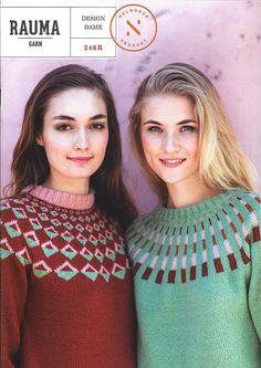 246R Strikkemønstre til dame Crochet Yarn, Crochet Top, Comfy, Pullover, Sweaters, Inspiration, Clothes, Design, Knitting Ideas