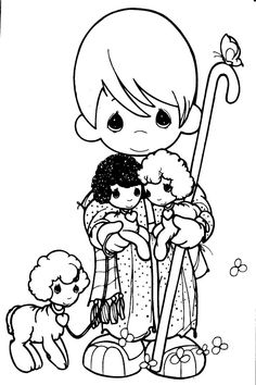 Colouring Pages: Precious Moments