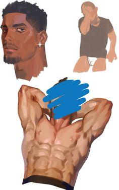Anatomy Sketches, Anatomy Drawing, Anatomy Art, Digital Painting Tutorials, Digital Art Tutorial, Art Tutorials, Anatomy Reference, Art Reference Poses, Boichi Manga