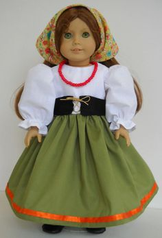 "Fits 18"" American Girl doll Italy Italian folk dress clothes C (COSTUME ONLY)"
