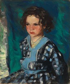 """Patience Serious,"" Robert Henri, 1915, oil on canvas, 23 7/8 x 20"", Cincinnati Art Museum."