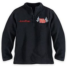 Disney Lightning McQueen Fleece Pullover for Boys - Personalizable | Disney StoreLightning McQueen Fleece Pullover for Boys - Personalizable - He'll heat-up the track wearing our cozy Cars fleece pullover featuring 1/4 zip front and cadet collar. Woven Lightning McQueen appliqu� with embroidered accents makes this an all-weather essential.Size4