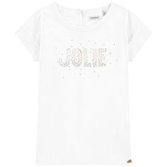 Graphic T-shirt with rhinestones - 157802