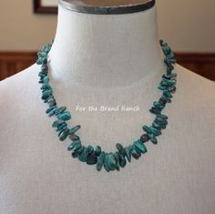 Graduated Natural Freeform Turquoise Necklace by forthebrand