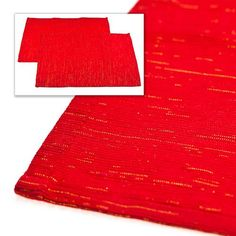Red Christmas Place Mats 2 pack | Poundland