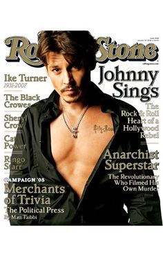 Johnny Depp on the cover of the Rolling Stones