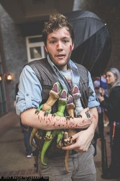 Fun Owen and his raptors from Jurassic World Halloween costume! Fun Owen and his raptors from Jurassic World Halloween costume! Fun Owen and his raptors from Jurassic World Halloween costume!