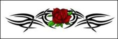 """Tribal Rose Temporaray Tattoo by Tattoo Fun. $3.95. This very popular Tribal Rose design is perfect for your lower back, ankle or wrist.\r\n The image is 4.5"""" long and 1"""" tall. (11155)"""
