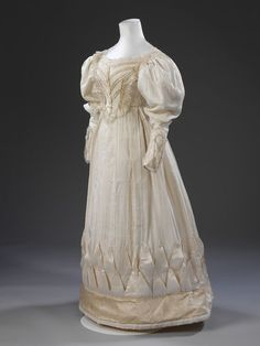 Wedding dress | V&A Search the Collections London, England (probably, made)  Date: 1828 (