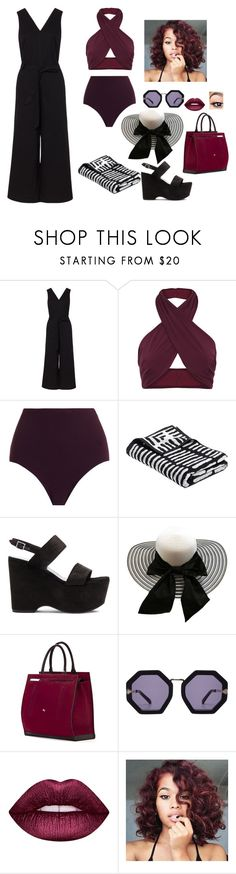 """""""N/A # 852"""" by terra-wendy on Polyvore featuring FELLA, Zimmermann, Yves Saint Laurent, Cambiaghi, Karen Walker and Lime Crime"""