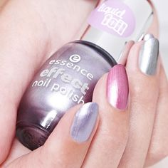 """time to get metallic with our liquid foil effect nail polishes nail_careskin-tone-2for this look we chose: """"33 flashy wonderland"""" """"34 the pink bang!"""" """"35 shine brighter!"""" #essence #longlastinglove #essencelove #loveatfirsttry #effectnailpolish #liquidfoil #nailstagram #nailsoftheday - See more at: http://iconosquare.com/viewer.php#/detail/1106610665750581906_184828635"""