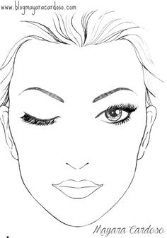 Blank Makeup Face Chart Template