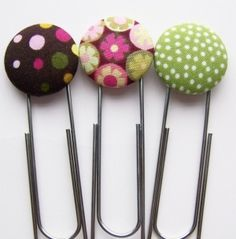 Hip Clip Button Bookmarks by lea