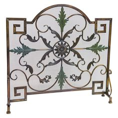 Arched Single Panel Antique Copper/Patina Fireplace Screen #LearnShopEnjoy