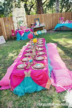 Another Fabulous (love the bright color choices) Fairy Party