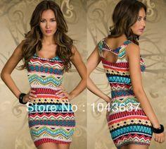 2013 nova chegada mulheres moda casual padrão de geometria verão sexy mini vestido modal bodycon vestidos 115 frete grátis 8.50