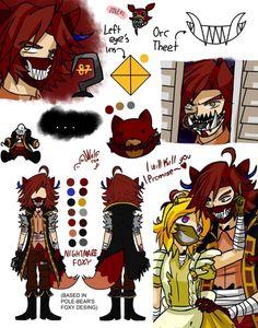Pole-Bear Fnaf4 Nightmare Foxy by DragonTamer73 on DeviantArt