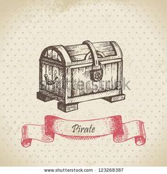 treasure chest drawing - Google Search