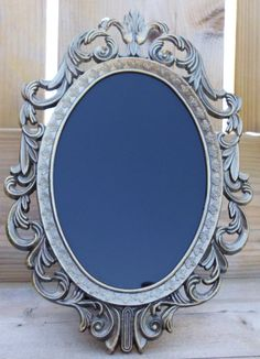 Scrying Mirror Black Mirror Vintage  by WayOfTheCauldron on Etsy, $15.00
