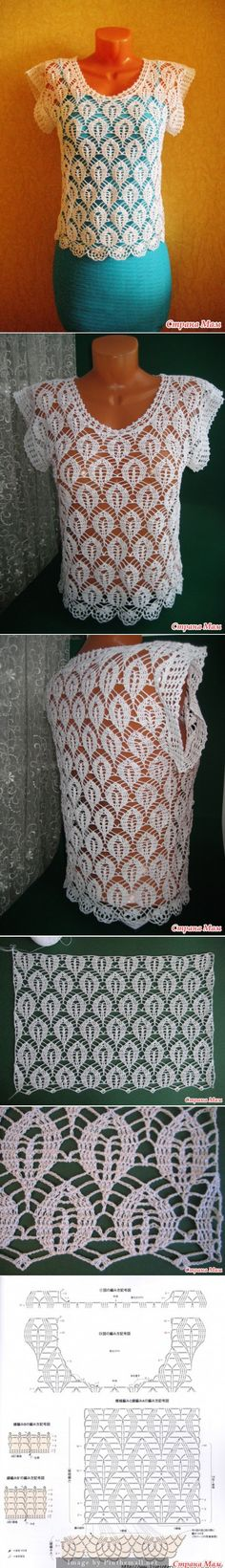 Crochet pullover/top. http://www.stranamam.ru/post/7288777/ - created via http://pinthemall.net