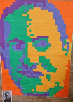 Post-It Mural  Onalaska High School Painting Class  Mr. Schaffner.....the principal!