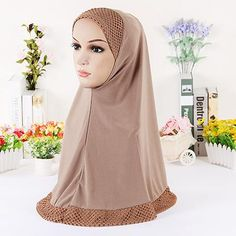 12 colors Muslim Hijab hollow-out women muslim scarf headcloth turban hat fashion women's scarves
